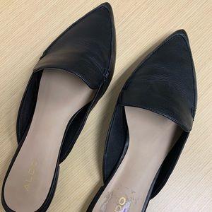 Aldo - Black leather mules!